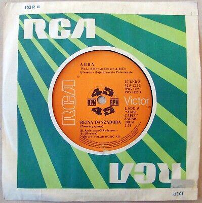 "ABBA 45 Dancing Queen SOUTHAMERICA 7"" Spanish Titles 1976"