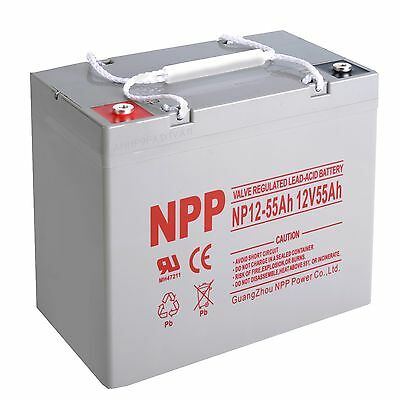 NPP   NP12-55Ah  12V 55Ah  VRLA  Battery For Minn Kota Endura Trolling  Motor