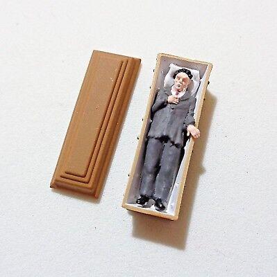 Preiser 29111 H0, Vampir liegend im Sarg, 1 Figur, handbemalt, 1:87, Neu ()