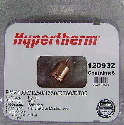 Hypertherm Genuine Powermax 100012501650 40 Amp Nozzles 120932 5pk