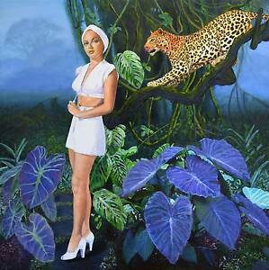 Assorted paintings award finalist Brisbane artist Jane Ianniello Jindalee Brisbane South West Preview