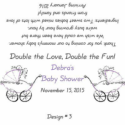 Twin Baby Shower Favors (Baby Shower *Twins*  Candy Bar Wrappers/Birthday Party Favors- Boy or)