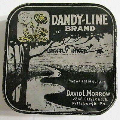 DANDY-LINE Brand Did David L Morrow Pittsburgh Pa Typewriter Ribbon Tin