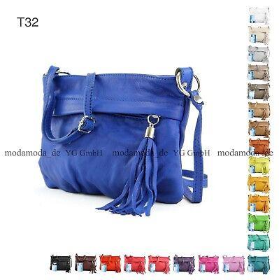 ital. Tasche Schultertasche Handtasche Umhängetasche Damen Nappaleder Mini T32