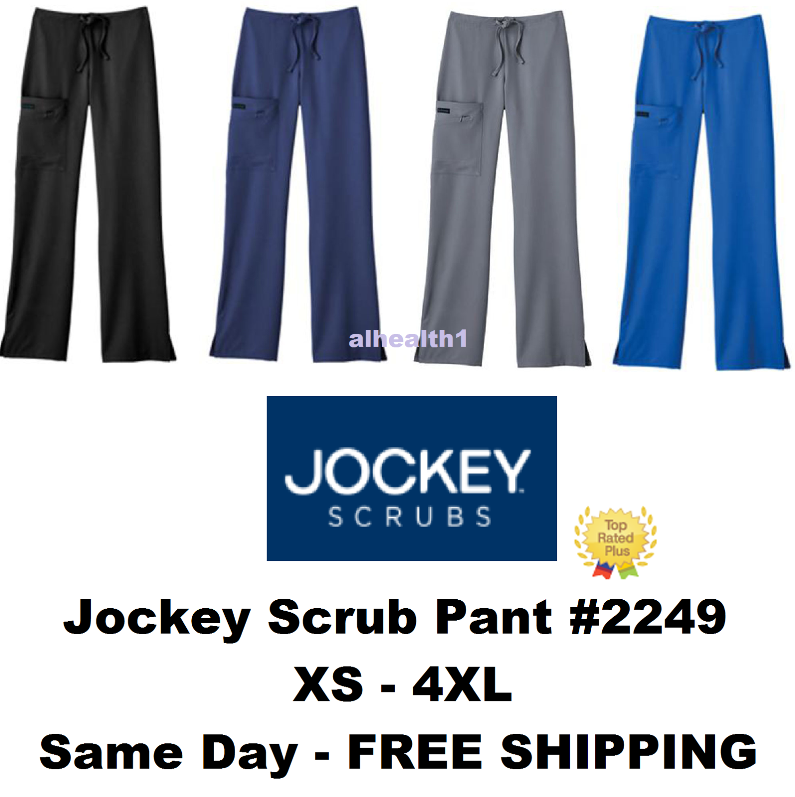 Jockey Medical Scrub Nurse Pant Style 2249 XS to 4XL ~SAME D