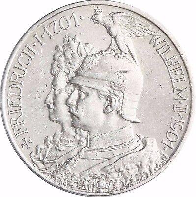 Jäger 105 - Preußen 2 Mark Silber 200 Jahre Königreich 1901 Münze in Münzkapsel