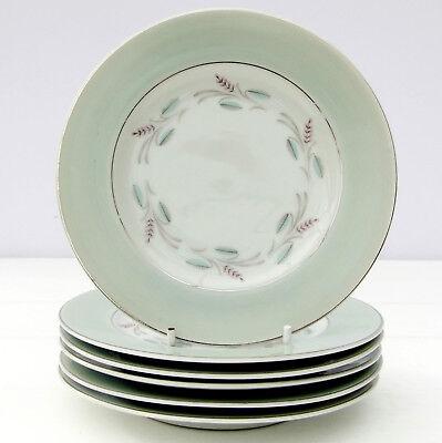 Vintage Japanese Sone China 81899R Set 6 Tea Plates