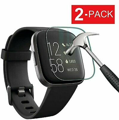 2-Pack Tempered Glass Screen Protector For Fitbit Versa & Versa Lite Watch Cell Phone Accessories