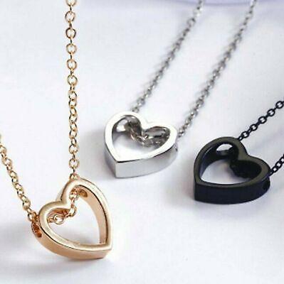 Fashion Women Heart  Pendant Charm Necklace Jewelry w/ 19″ Stainless Steel Chain Fashion Jewelry