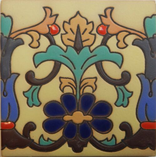Mexican Tiles High Relief Ceramic Cuerda Seca Malibu Santa Barbara Tiles CS-67