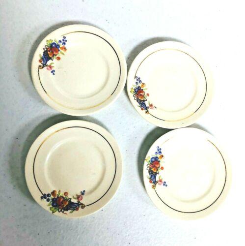 RARE 4 Vintage Butter Pats - Thanksgiving Cornucopias