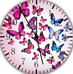 Beautiful Butterfly Frameless Borderless Wall Clock For Gifts or Home Decor E148