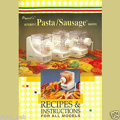 Ronco pasta recipe book