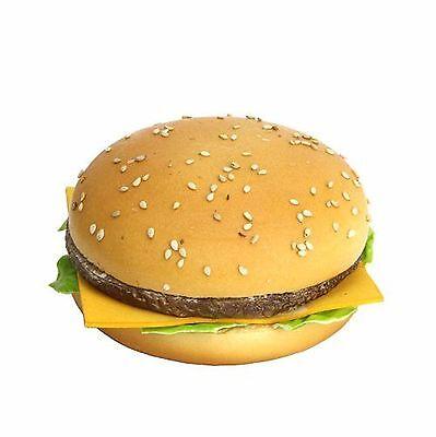 Artificial Hamburger on a Bun Fake Hamburger Faux Cheeseburger