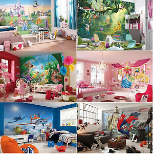 Wall mural wallpapers kids room disney marvel princess for Cars 2 wall mural