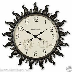 Howard Miller 625-543 Sunburst ll - Indoor or Outdoor Battery Sunburst Clock