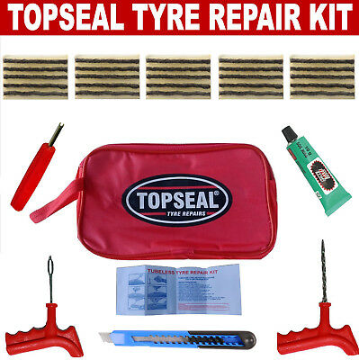 Tubeless Tyre Puncture Repair Kit With 25 Strings And Rema Tip Top Cement