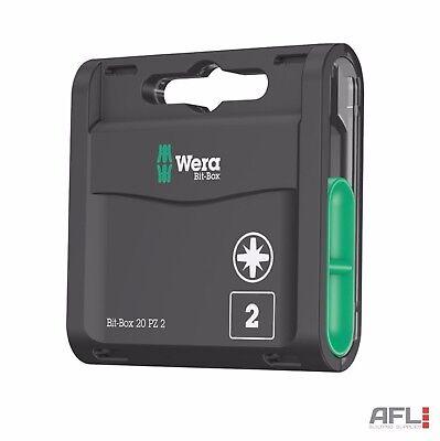20 Pack Wera 057760 855/1 Extra Hard Torsion Pozi PZ2 25mm Screwdriver Bit Box