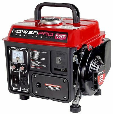 Gas Powered Portable Generator 1000 Watt Lightweight Quiet Camping Home Inverter