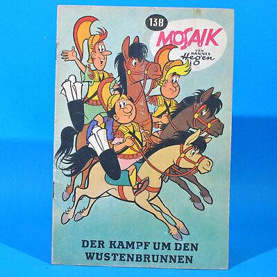 Mosaik 138 Digedags Hannes Hegen Originalheft DDR Sammlung original MZ 5