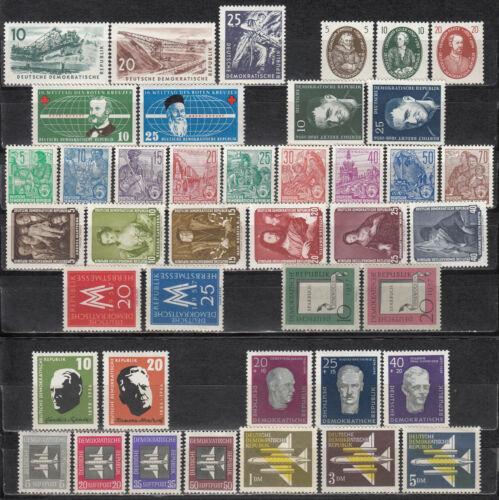 East Germany GDR 1957 - 11 full sets - MNH (a12)