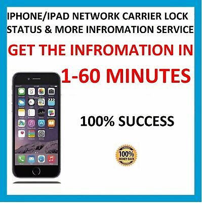 SuperFAST CARRIER NETWORK CHECK SIM LOCK STATUS INFORMATION FOR ANY IPHONE MODEL