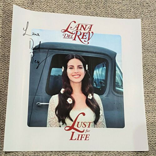 LANA DEL REY SIGNED LUST FOR LIFE 24x24 LITHOGRAPH POSTER NORMAN ROCKWELL ALBUM