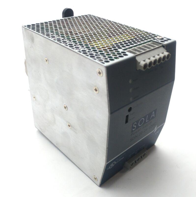 Sola SDN 20-24-100C Power Supply Output: 24VDC 20A Input: 115/230VAC DIN Rail