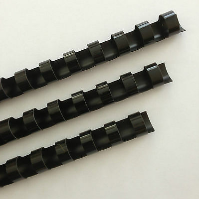 716 Plastic Binding Combs - Black - Set Of 25