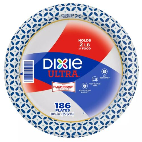 """Dixie Ultra Paper Plates, Heavyweight, 10 1/16"""" (186 ct.)"""