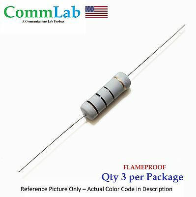 100 Ohm 5 Watt 5w 5 Tolerance Metal Oxide Film Resistor 3 Pieces