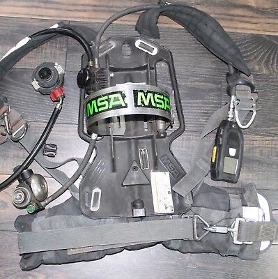 Msa Frame Harness 4500psi Scba Air Pack Bottle Cylinder Tank Scott Firefighter