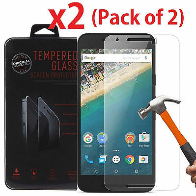 2-Mass Premium Tempered Glass Screen Protector for Google Huawei Nexus 6P