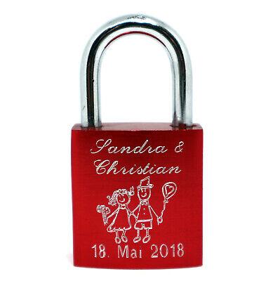 ♥ Mimie-Schloss ♥ Liebesschloss als Hochzeitsgeschenk für Braut und Bräutigam  (Bräutigam, Geschenk Für Braut)