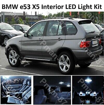 INTERIOR /& EXTERIOR LED UPGRADE LIGHT 21 LED BULB PACK FOR BMW X5 E53 2000-06