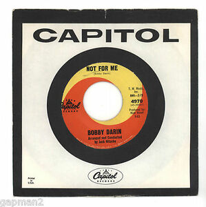 Bobby-Darin-1963-Capitol-45rpm-Not-For-Me-b-w-18-Yellow-Roses-Northern-Soul