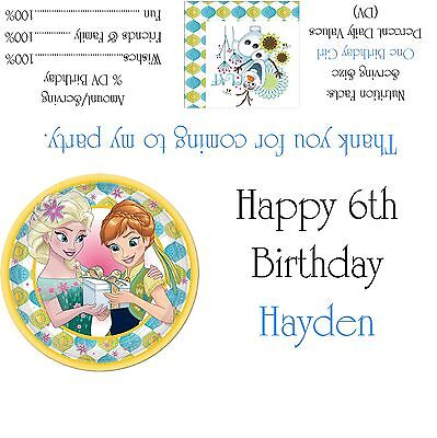 Disney's Frozen Fever Candy Bar Wrappers/Birthday Party Favors - Frozen Candy Bar