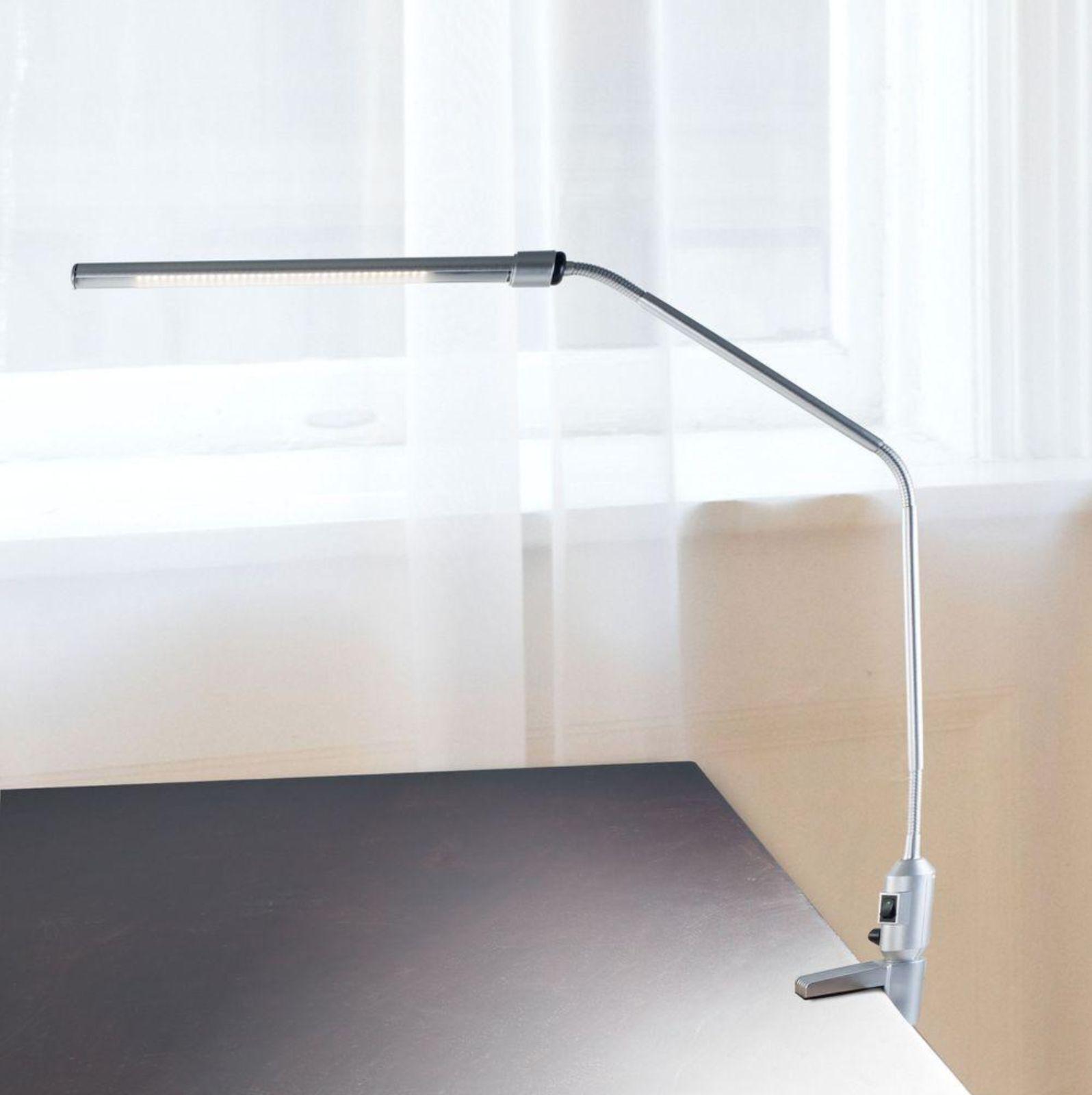 Lavish Home Contemporary Clamp LED Desk Lamp, Silver