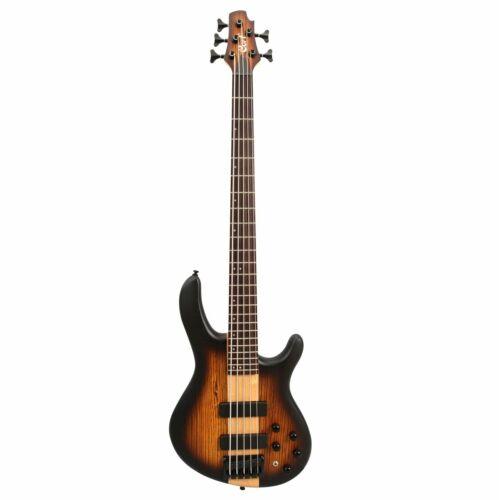 Cort C5 Plus OVMH Antique Brown Burst Electric Bass Guitar