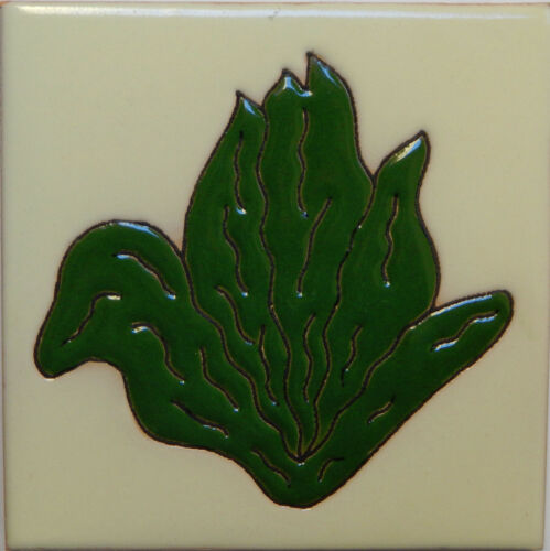 Mexican Tile Malibu Vegetable Santa Barbara Tiles Cuerda Seca Lettuce F-28