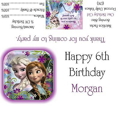 Disney's Frozen Candy Bar Wrappers/Birthday Party Favors  - Frozen Candy Bar