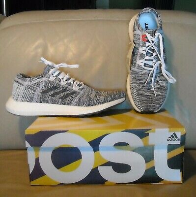 NWOB Adidas Pure Boost Go Men's Running Shoes Size 10.5 Gray/ Blue