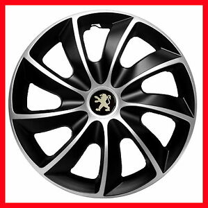 14 peugeot 106 107 206 306 partner wheel trims covers hub caps set of 4 x14 39 39 ebay. Black Bedroom Furniture Sets. Home Design Ideas
