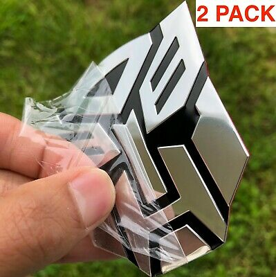 - (2 PACK) ALUMINUM Transformers Autobots Optimus Prime Car Sticker Decal Emblem