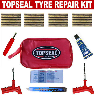 Tubeless Tyre Puncture Repair Kit With 20 Strings And Pang Cement
