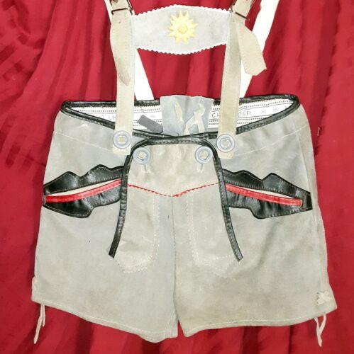 Toddler 5 TRACHTEN OKTOBERFEST Lederhosen Shorts by ECHT LEDER Tyrol Suede Gray