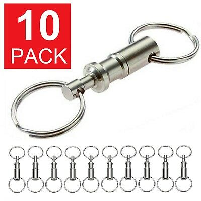 10-Pack Detachable Pull Apart Quick Release Keychain Key Rings Key Chain Detachable Key Ring