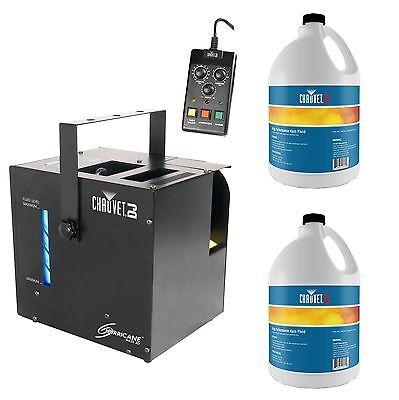 CHAUVET DJ Hurricane Haze 2D Water-Based Haze Hazer Machine w/ 2 Gal HFG Fluids