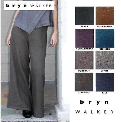 BRYN WALKER Heavy Linen  LONG FULL PANT  Wide Leg Palazzo  1X 2X 3X  FALL 2018