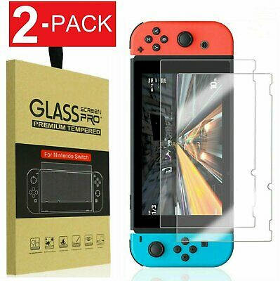 Nintendo Switch Premium Tempered Ultra Clear Glass Screen Protector (2 Pack) Screen Protectors
